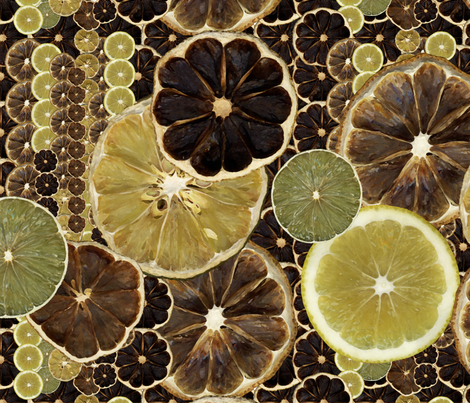 lemons fabric by tat1 on Spoonflower - custom fabric