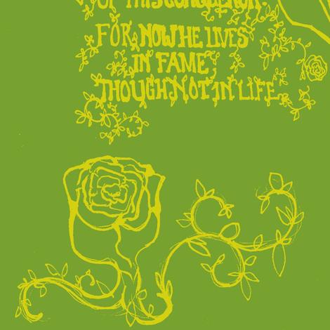 Frog Eulogy fabric by sirenoftitan on Spoonflower - custom fabric