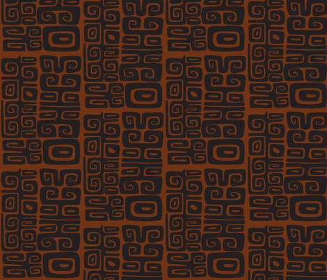 Abstactiva, Matuku, orange-ch fabric by sophista-tiki_by_dawn_frasier on Spoonflower - custom fabric