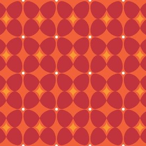 Mod Flora {Orange/Red}