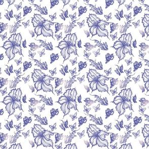 exotic flower vintage pattern