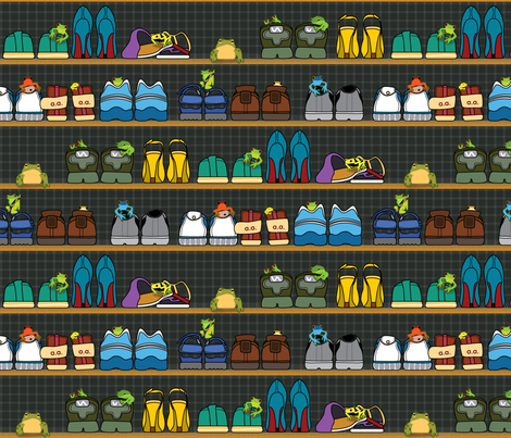 Mr.Toad's New Neighbours fabric by ravenous on Spoonflower - custom fabric