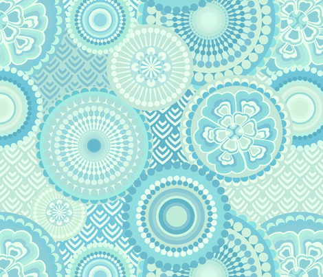 eclectic_flowers Baby 02 fabric by chicca_besso on Spoonflower - custom fabric