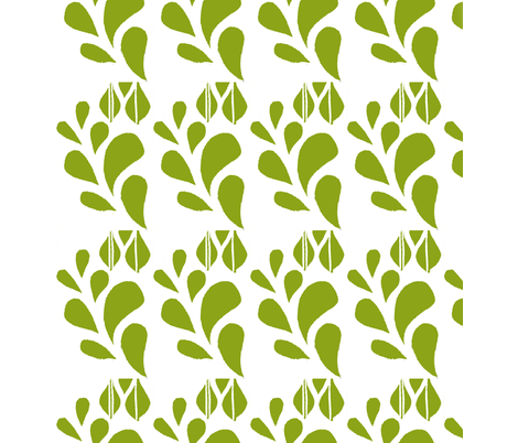 Spring Bloom Green fabric by kanalshah on Spoonflower - custom fabric