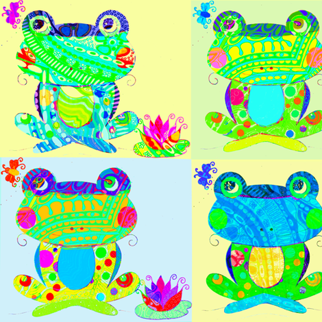 frogs of the season fabric by mketi on Spoonflower - custom fabric