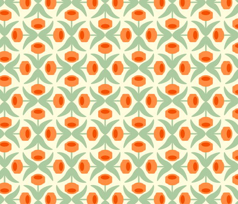 Late Bloomin' Tulips fabric by juliannlaw on Spoonflower - custom fabric