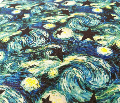 Van Gogh's Starry Night with Black Stars
