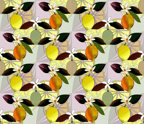 Lemon  fabric by alfabesi on Spoonflower - custom fabric