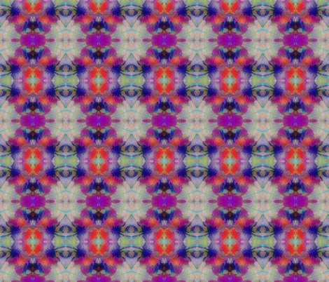 Flowers  Abstract Kaleidoscope fabric by koalalady on Spoonflower - custom fabric