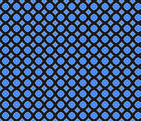 Kaleidoscope Flower Blue fabric by koalalady on Spoonflower - custom fabric