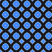 Kaleidoscope Flower Blue