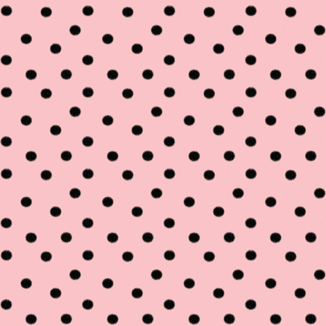 Light Baby Pink with Dark Black Dots fabric by bohobear on Spoonflower - custom fabric