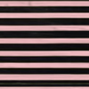 Baby Pink & Black Nautical Stripes