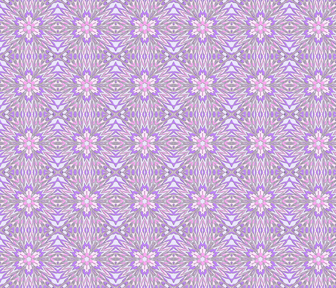 Pink - Liquified  Lilac Star fabric by koalalady on Spoonflower - custom fabric