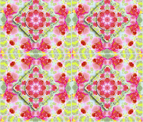 Rose  Kaleidoscope fabric by koalalady on Spoonflower - custom fabric