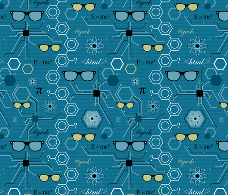 More Retro Geek fabric by sarahjohnston on Spoonflower - custom fabric