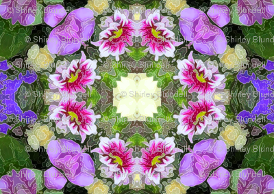 Birthday Flowers Kaleidoscope