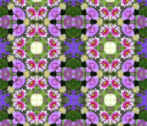 Birthday Flowers Kaleidoscope fabric by koalalady on Spoonflower - custom fabric