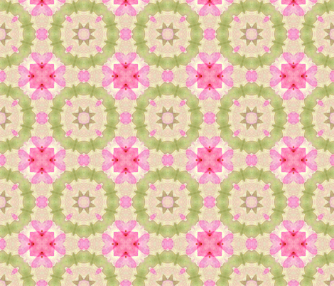 Blossoms Pink and Green fabric by koalalady on Spoonflower - custom fabric