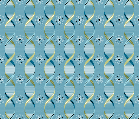 Geek - It's in our DNA fabric by sarahjohnston on Spoonflower - custom fabric
