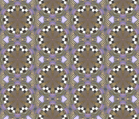 Mosaic Tile kaleidoscoped fabric by koalalady on Spoonflower - custom fabric