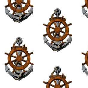 Ship's Wheel And Anchor