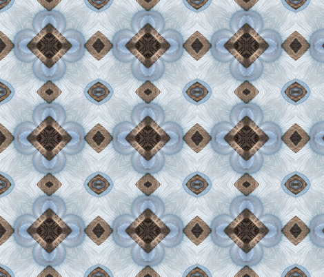 Portabella-blue.  fabric by koalalady on Spoonflower - custom fabric