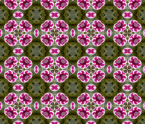 Red Flower Kaleidoscope fabric by koalalady on Spoonflower - custom fabric