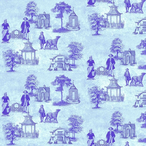Country Toile-blue