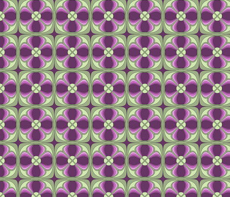 Deco Clover fabric by audsbodkin on Spoonflower - custom fabric