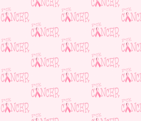 F*ck Cancer fabric by popstationery&gifts on Spoonflower - custom fabric