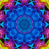 Blue Rainbow Rose Kaleidoscope