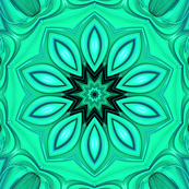 Green Flower 3d Fractal