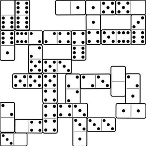 Dominoes B&W