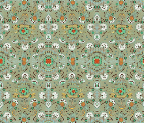 Flower in the Sky fabric by janet_antepara on Spoonflower - custom fabric