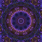 Blue Purple 3d Fractal