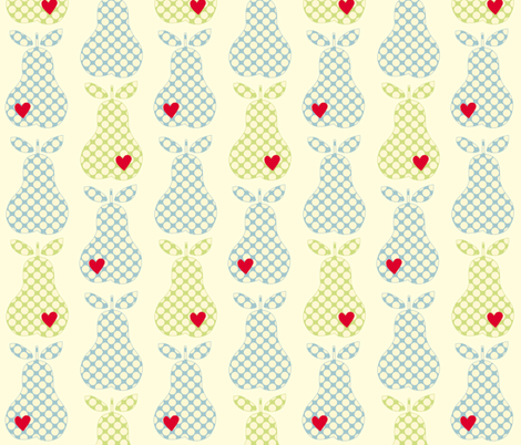 Polka_dot_pears_with_hearts_cropped_no_heart_copy fabric by anikabee on Spoonflower - custom fabric