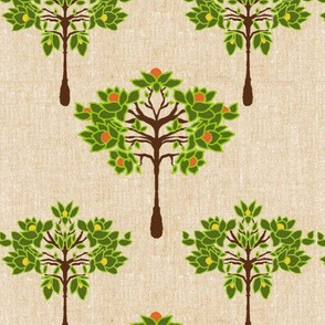 Citrus Trees on linen