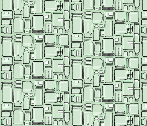 collection vessels green fabric by doodleandhoob on Spoonflower - custom fabric