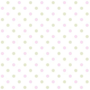 Pale Pink and Green Dots