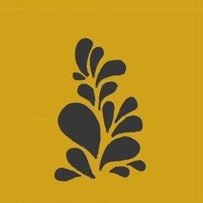 Full Blossom mustard & black
