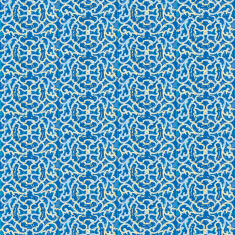 Grate Day Blue fabric by amyvail on Spoonflower - custom fabric
