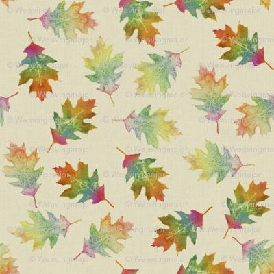 rainbow oak leaves (large leaves)
