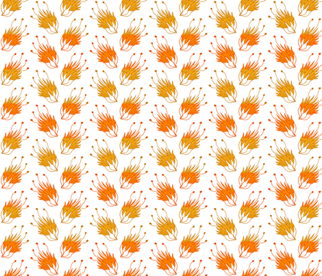 flowers with subtle stripes fabric by mummysam on Spoonflower - custom fabric