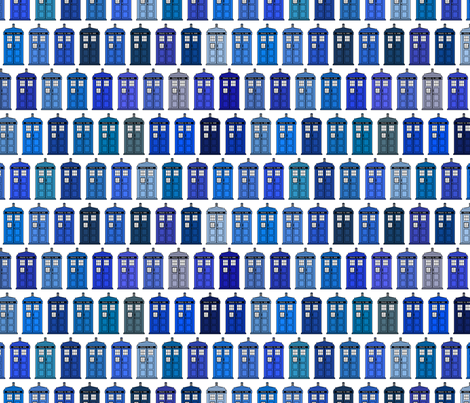 blue boxes in every shade fabric by spacefem on Spoonflower - custom fabric