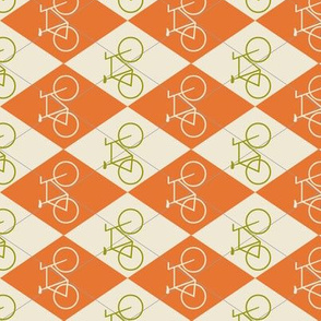Argyle Bikes in Orange and Green