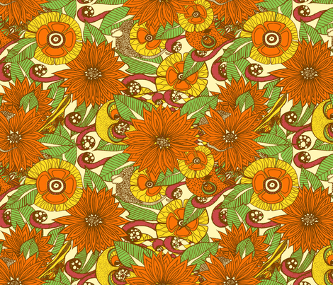 Summer fields  fabric by sarah_mulleady on Spoonflower - custom fabric