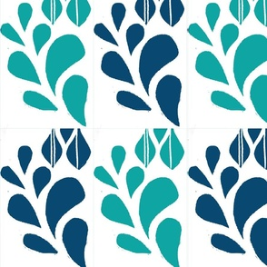 Spring Bloom Teal & Turquoise