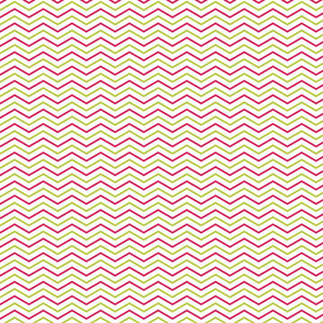 Pink and Lime Chevron