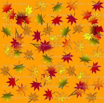 Autumn Leaves in Wild Orange © seasparkles 2013
